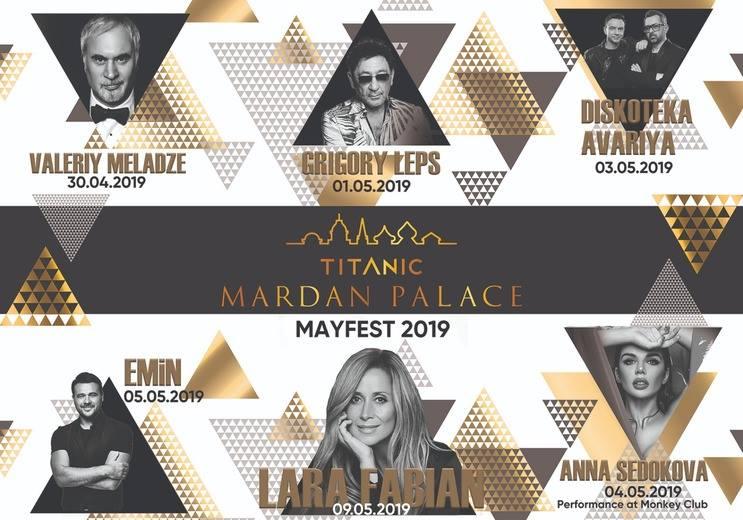 """Концертная программа на майские праздники  в """"Titanic Mardan Palace"""""""