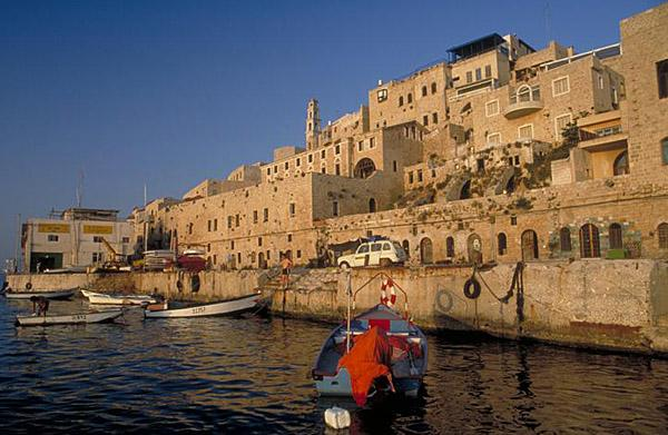 Old Jaffa Fishing boats on the Mediterranean