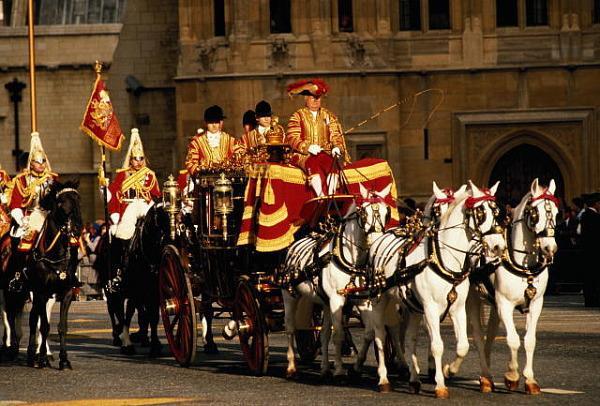 Карета королевы, Лондон