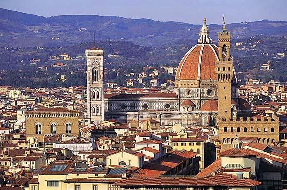 Собор Санта Мария дель Фиоре и Палаццо Веккио, Флоренция