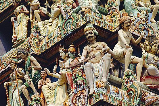 Детали индуистского храма